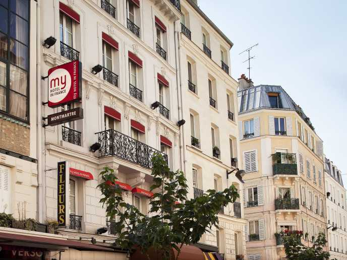My hotel in france montmartre in paris hotels for Hotels in france
